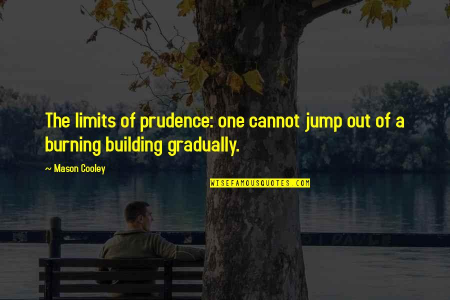 Catfish Mtv Quotes By Mason Cooley: The limits of prudence: one cannot jump out