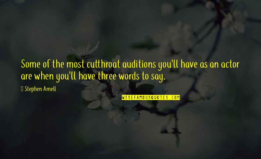 Catfish Tv Show Quotes By Stephen Amell: Some of the most cutthroat auditions you'll have