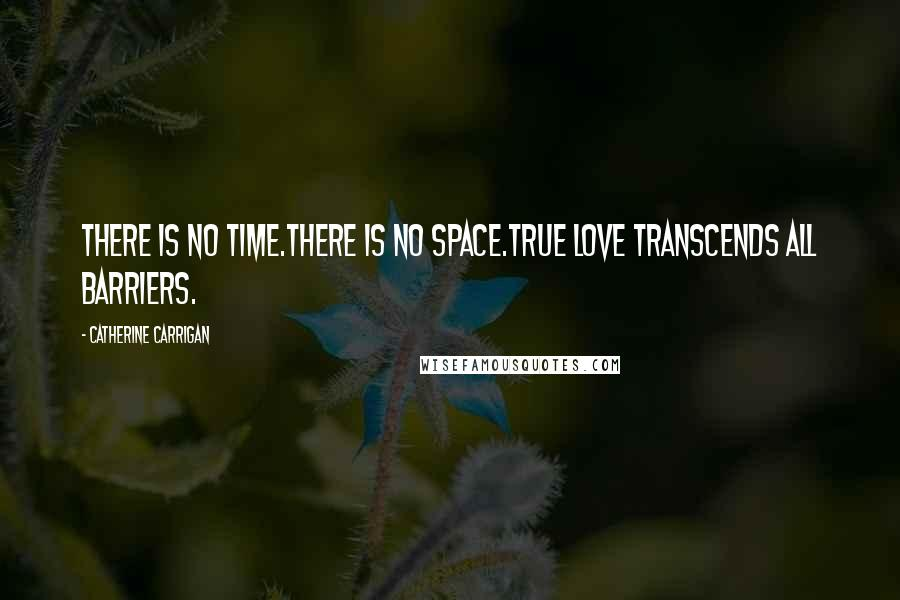Catherine Carrigan quotes: There is no time.There is no space.True love transcends all barriers.