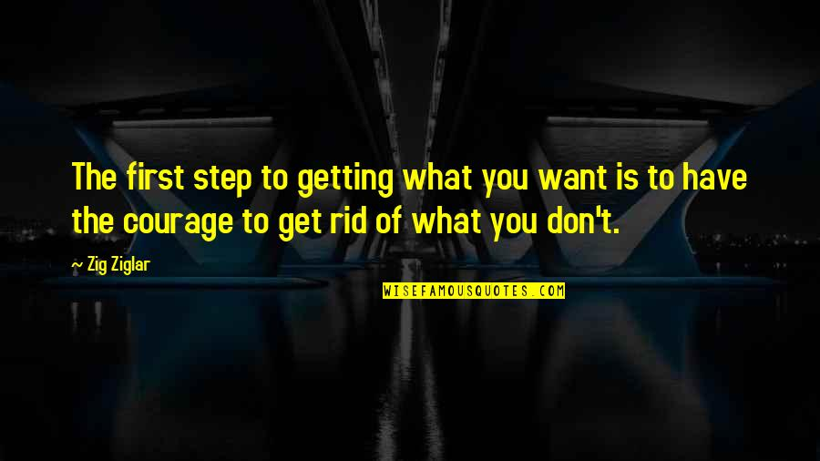 Catherine Devrye Quotes By Zig Ziglar: The first step to getting what you want