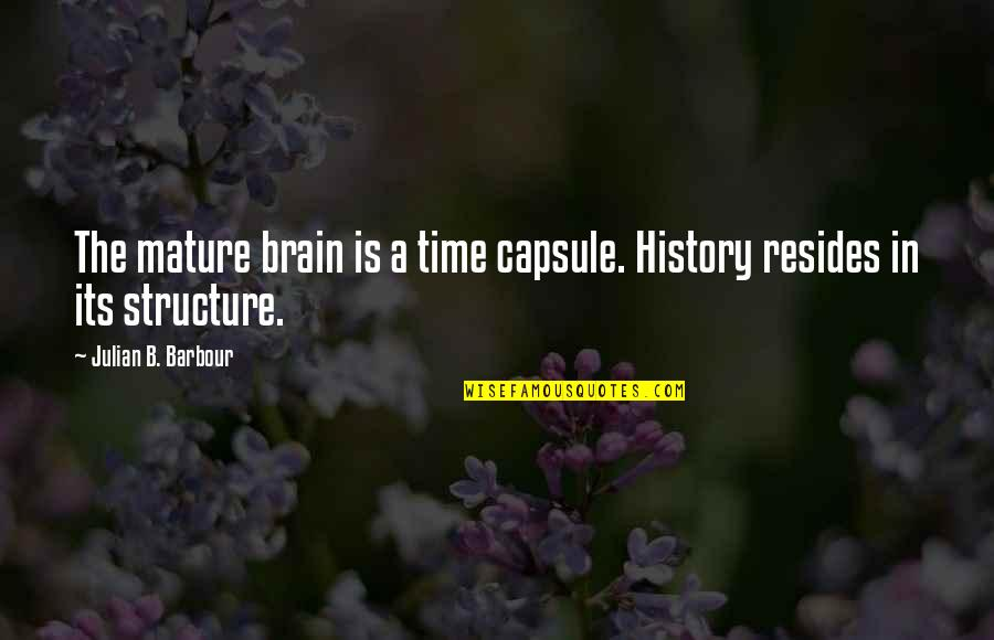 Cathy Horyn Quotes By Julian B. Barbour: The mature brain is a time capsule. History