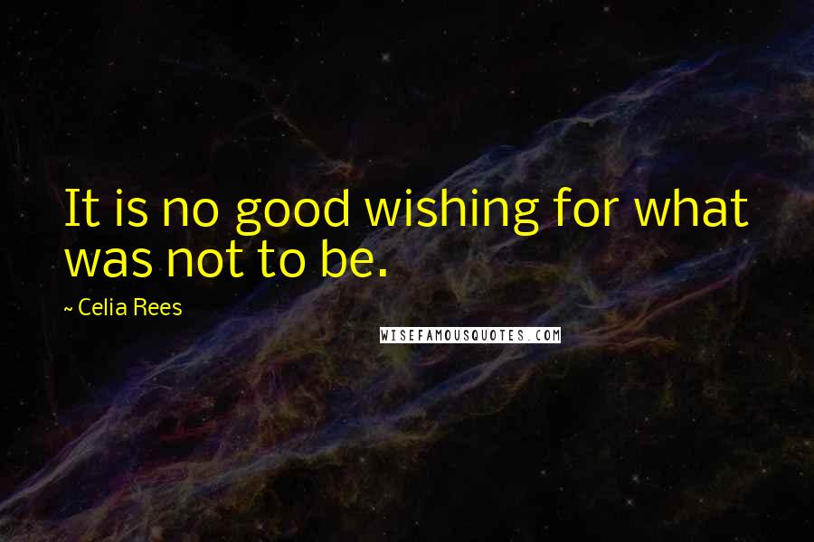 Celia Rees quotes: It is no good wishing for what was not to be.