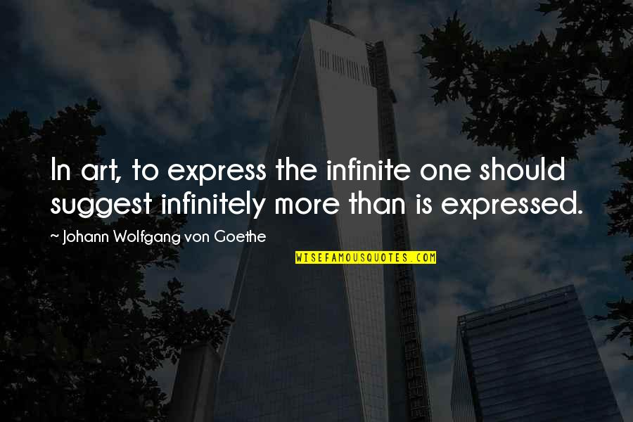 Cell Phones Brainy Quotes By Johann Wolfgang Von Goethe: In art, to express the infinite one should
