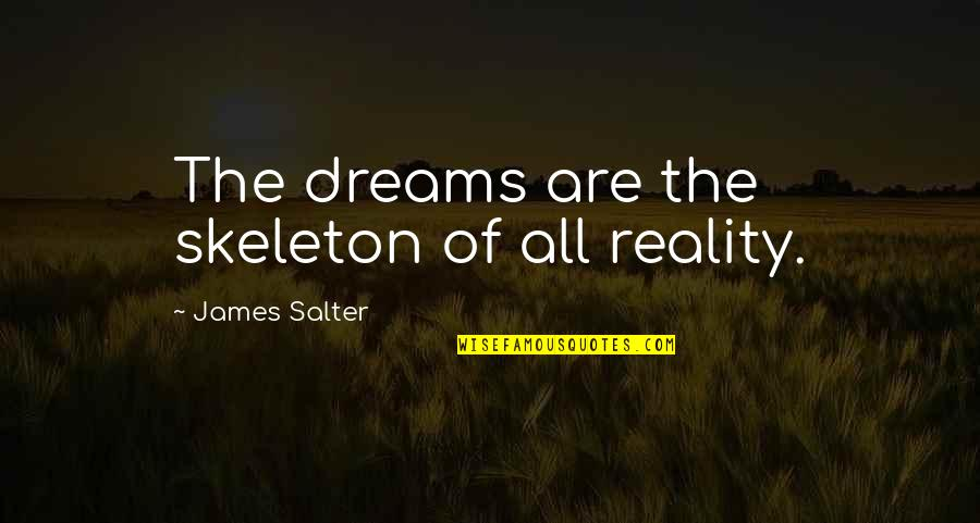 Ceridwen Quotes By James Salter: The dreams are the skeleton of all reality.