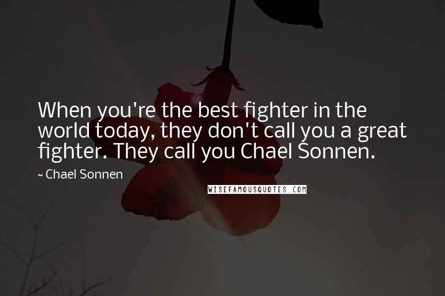 Chael Sonnen quotes: When you're the best fighter in the world today, they don't call you a great fighter. They call you Chael Sonnen.