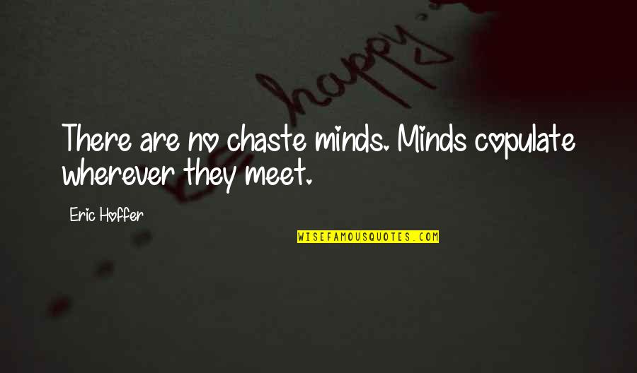 Chain Letter Movie Quotes By Eric Hoffer: There are no chaste minds. Minds copulate wherever