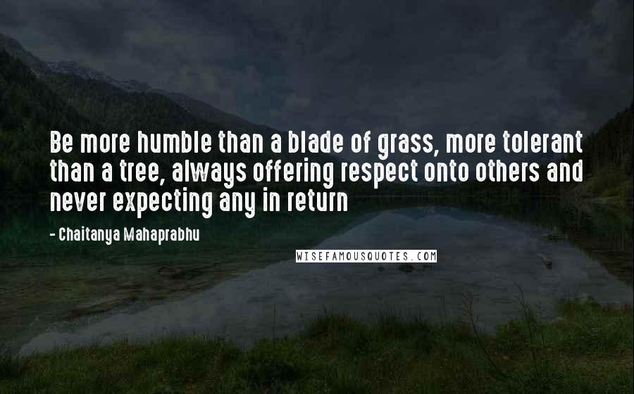 Chaitanya Mahaprabhu quotes: Be more humble than a blade of grass, more tolerant than a tree, always offering respect onto others and never expecting any in return