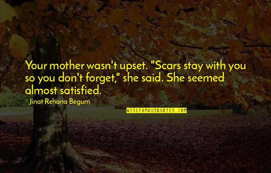 "Challenges In Family Quotes By Jinat Rehana Begum: Your mother wasn't upset. ""Scars stay with you"