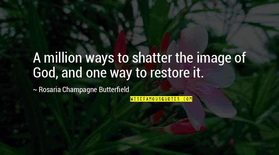 Champagne Quotes By Rosaria Champagne Butterfield: A million ways to shatter the image of