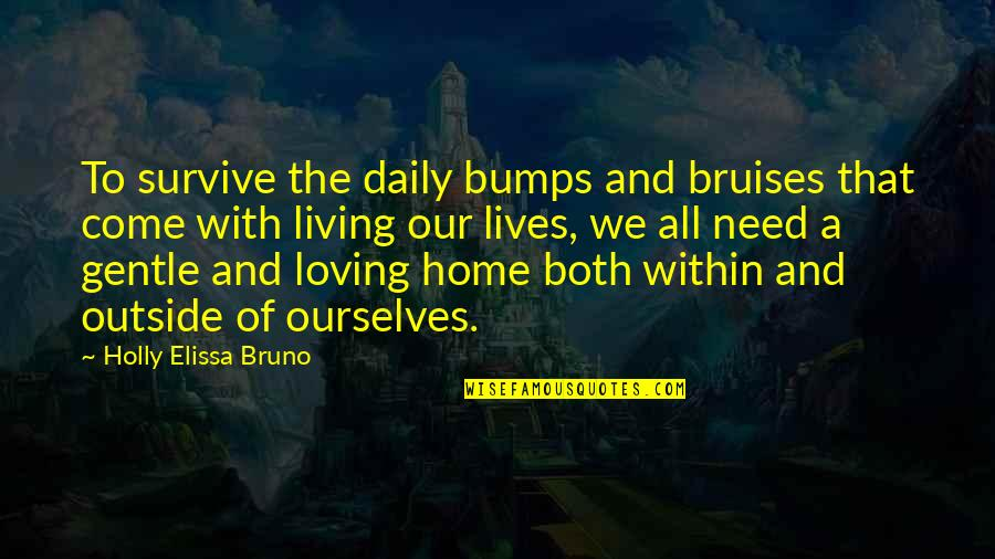 Chances And Love Quotes By Holly Elissa Bruno: To survive the daily bumps and bruises that