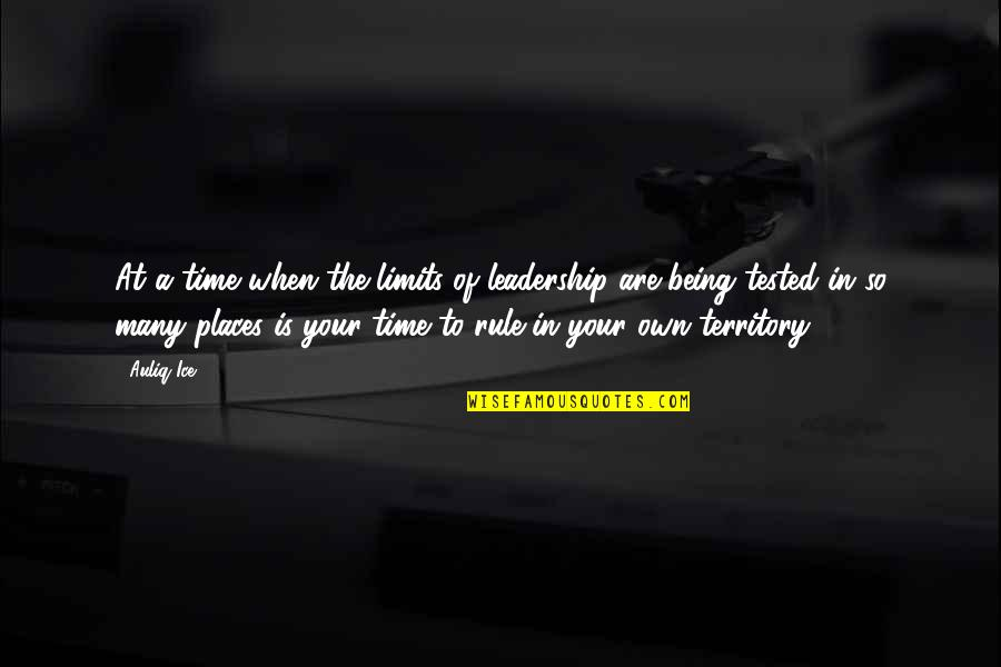 Chances And Opportunities Quotes By Auliq Ice: At a time when the limits of leadership