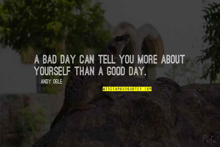 Chanele Quotes By Andy Ogle: A bad day can tell you more about