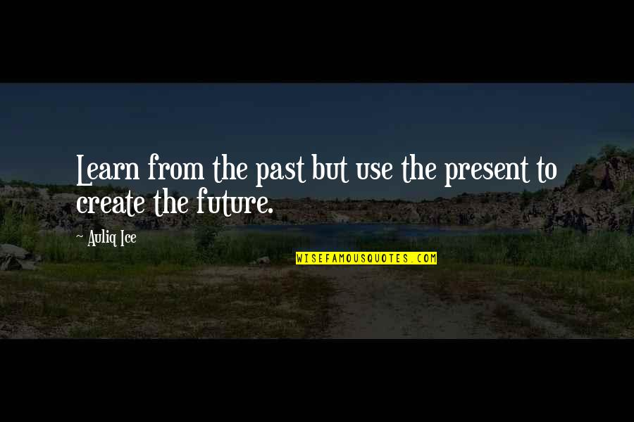 Change And Mistakes Quotes By Auliq Ice: Learn from the past but use the present