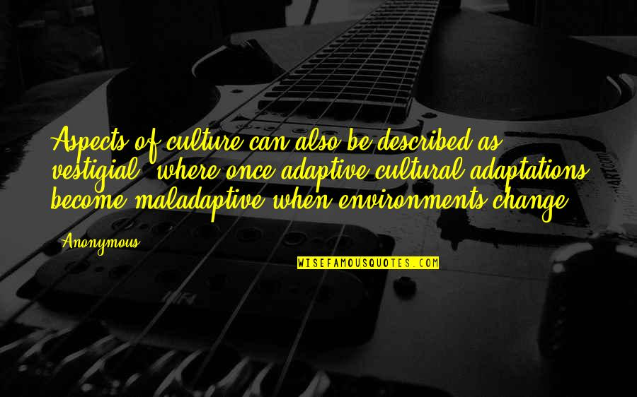Change Anonymous Quotes By Anonymous: Aspects of culture can also be described as