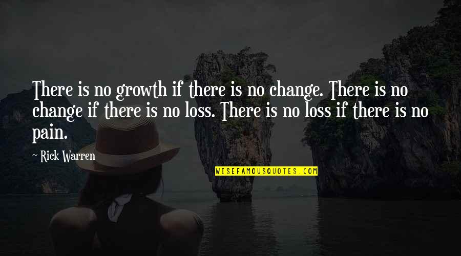 Change For Growth Quotes By Rick Warren: There is no growth if there is no