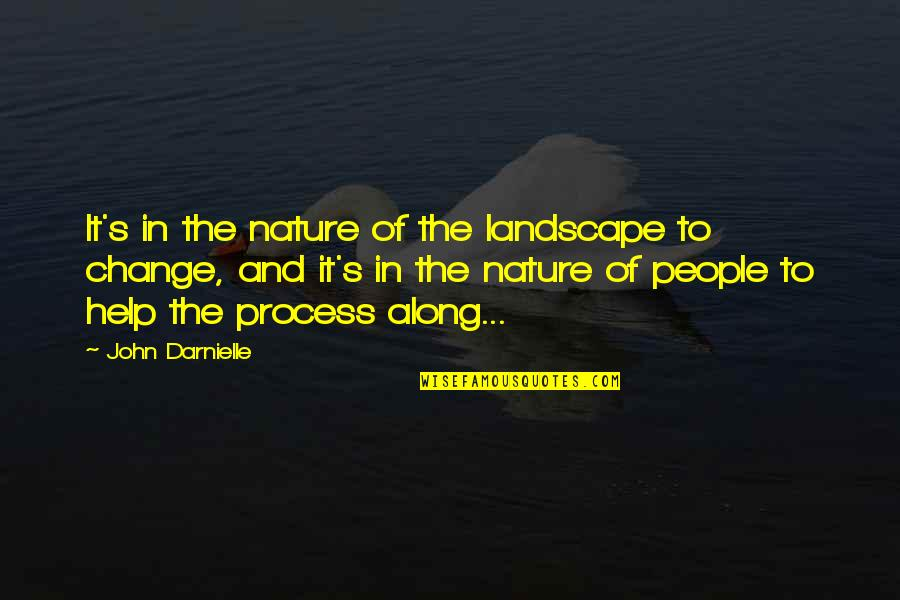 Change In People Quotes By John Darnielle: It's in the nature of the landscape to