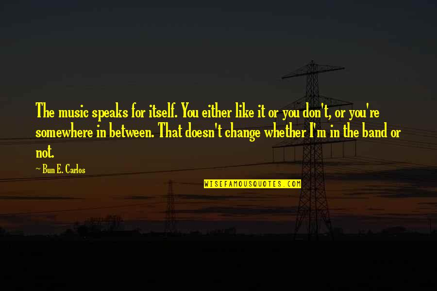 Change In You Quotes By Bun E. Carlos: The music speaks for itself. You either like