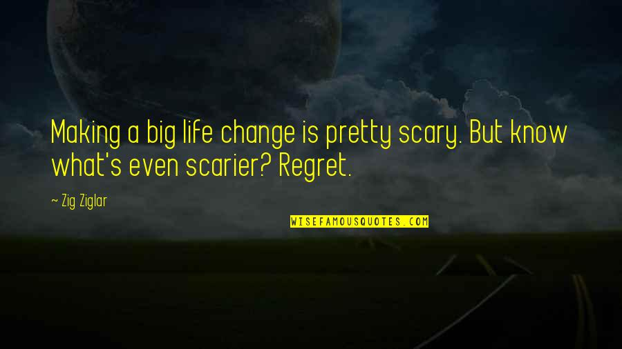 Change Life Quotes By Zig Ziglar: Making a big life change is pretty scary.