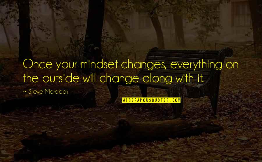 Change Mindset Quotes By Steve Maraboli: Once your mindset changes, everything on the outside