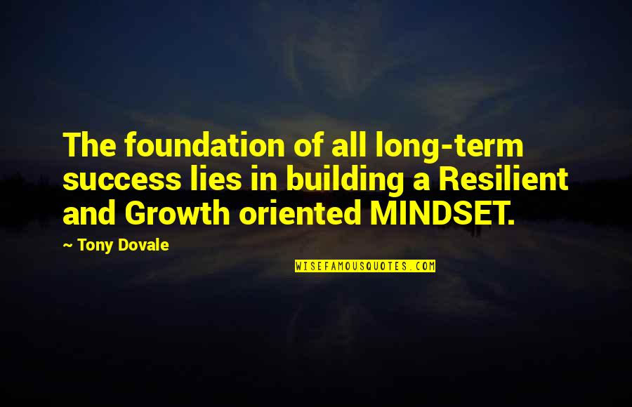 Change Mindset Quotes By Tony Dovale: The foundation of all long-term success lies in