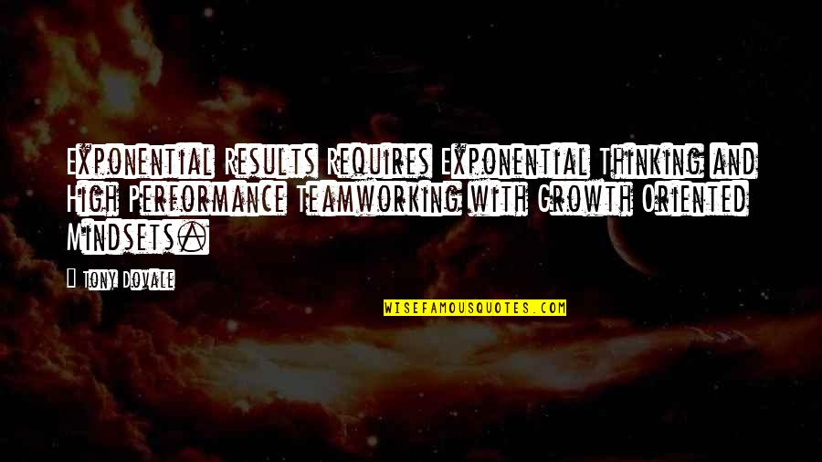 Change Mindset Quotes By Tony Dovale: Exponential Results Requires Exponential Thinking and High Performance