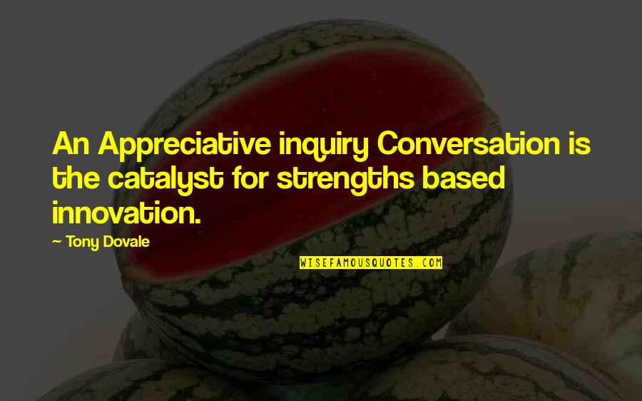 Change Mindset Quotes By Tony Dovale: An Appreciative inquiry Conversation is the catalyst for