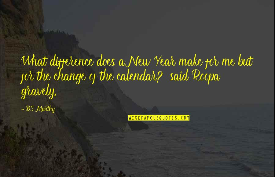 Change Of Love Quotes By BS Murthy: What difference does a New Year make for