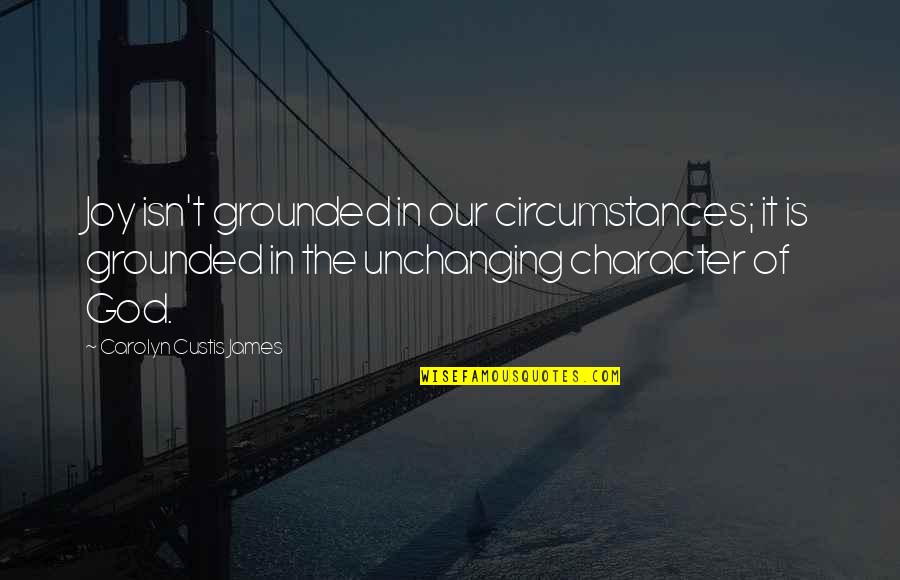 Character Of God Quotes By Carolyn Custis James: Joy isn't grounded in our circumstances; it is