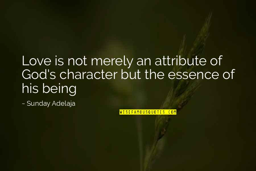 Character Of God Quotes By Sunday Adelaja: Love is not merely an attribute of God's