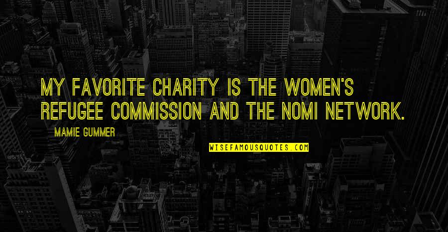 Charity's Quotes By Mamie Gummer: My favorite charity is the Women's Refugee Commission