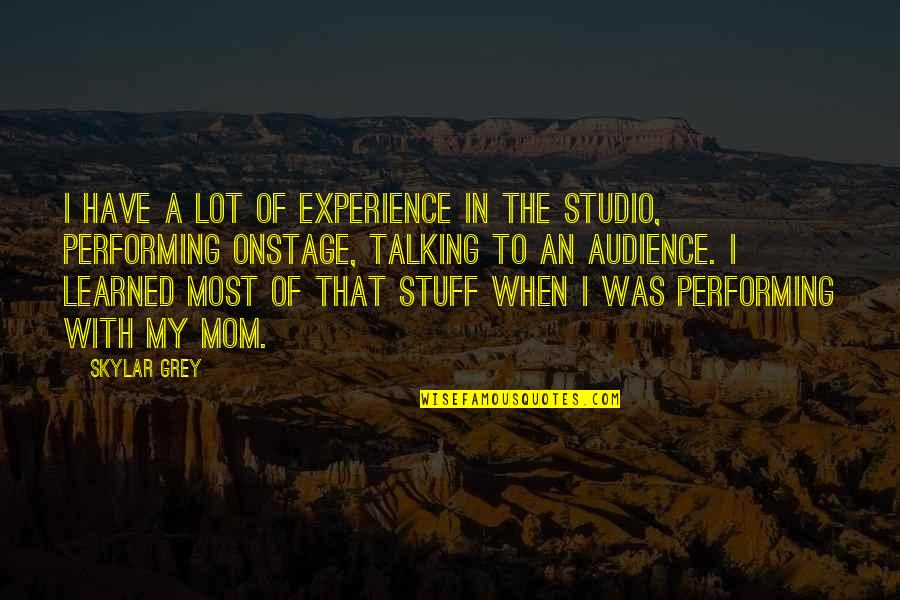 Charles Alston Quotes By Skylar Grey: I have a lot of experience in the