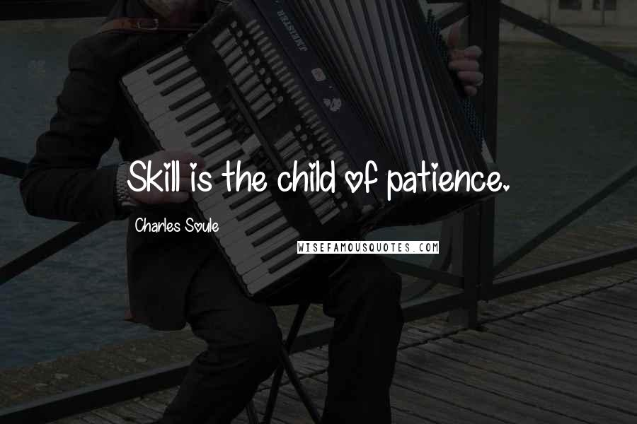 Charles Soule quotes: Skill is the child of patience.