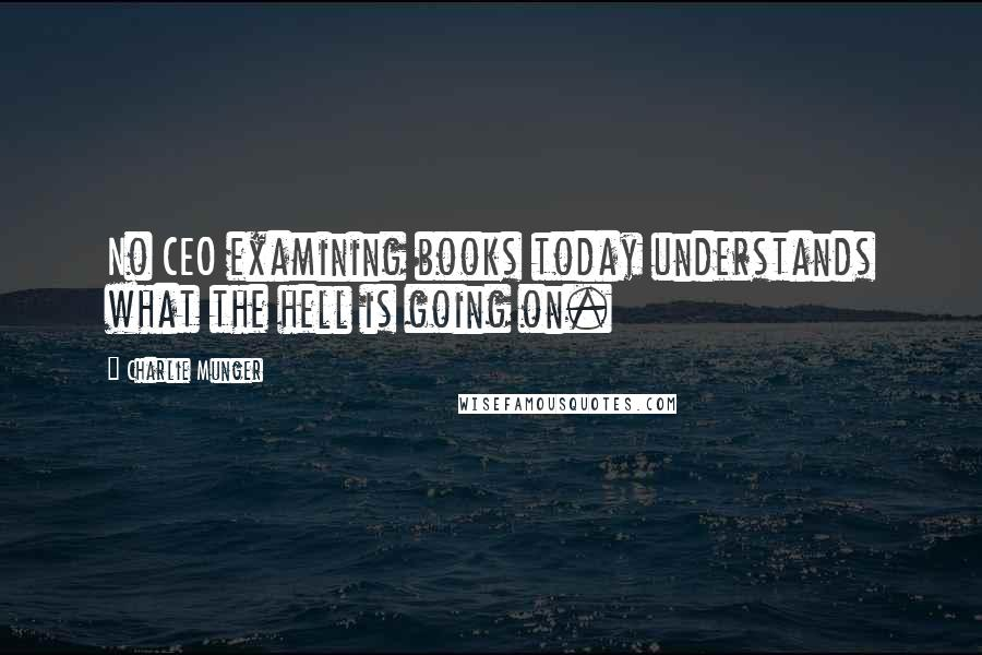 Charlie Munger quotes: No CEO examining books today understands what the hell is going on.
