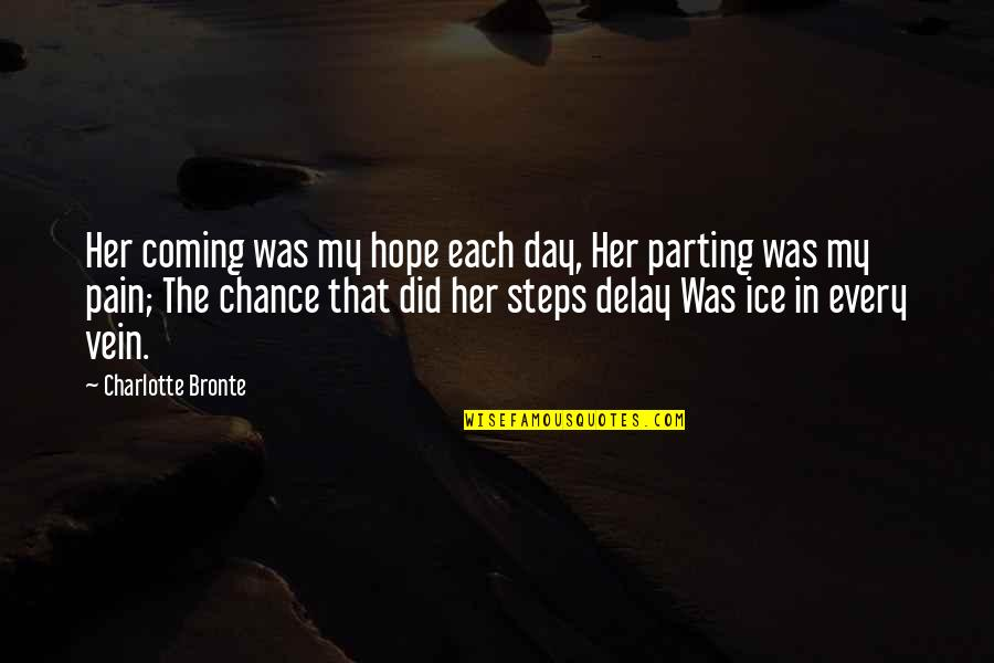 Charlotte Bronte Quotes By Charlotte Bronte: Her coming was my hope each day, Her