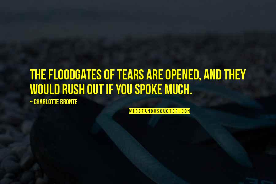 Charlotte Bronte Quotes By Charlotte Bronte: The floodgates of tears are opened, and they
