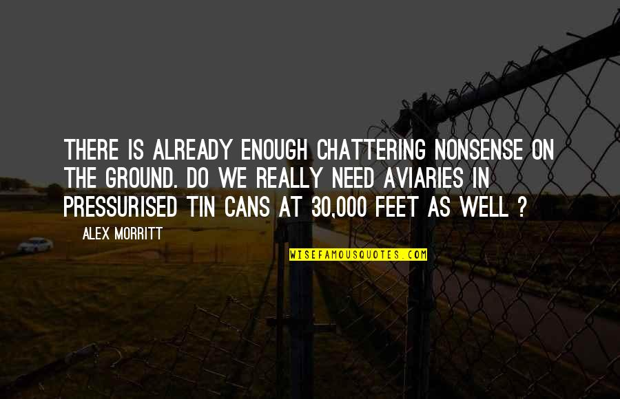 Chattering Quotes By Alex Morritt: There is already enough chattering nonsense on the
