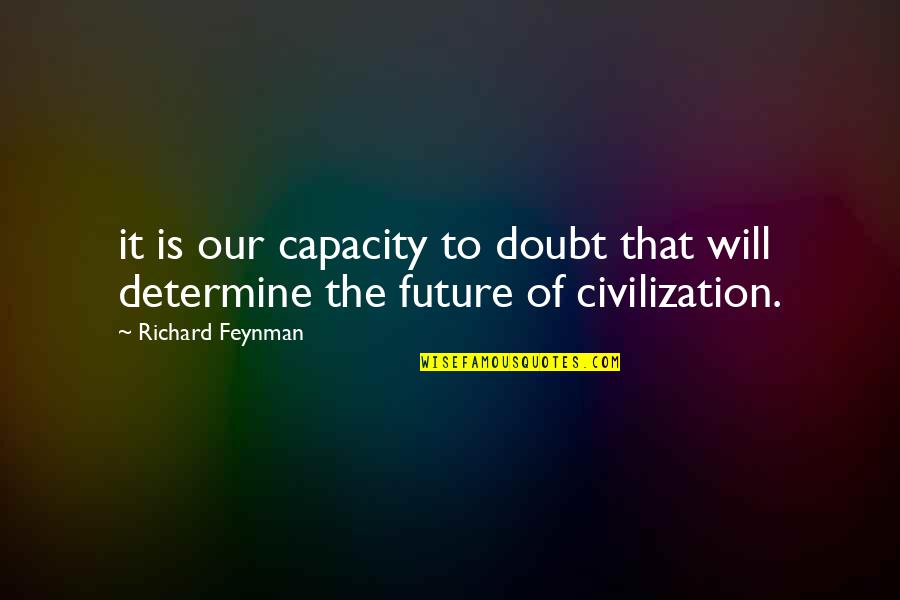Cheapest Flight Quotes By Richard Feynman: it is our capacity to doubt that will