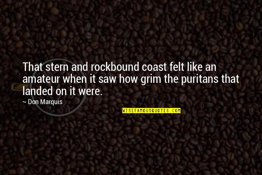Cheating In Love Quotes By Don Marquis: That stern and rockbound coast felt like an