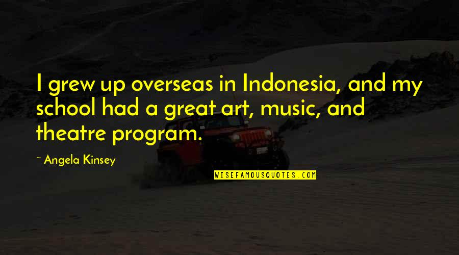 Check_nrpe Quotes By Angela Kinsey: I grew up overseas in Indonesia, and my
