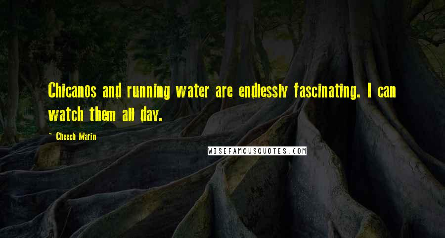 Cheech Marin quotes: Chicanos and running water are endlessly fascinating. I can watch them all day.