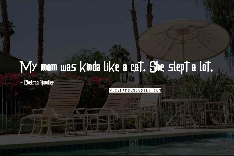 Chelsea Handler quotes: My mom was kinda like a cat. She slept a lot.