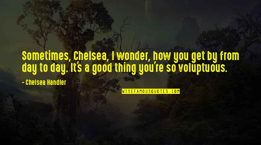 Chelsea's Quotes By Chelsea Handler: Sometimes, Chelsea, I wonder, how you get by