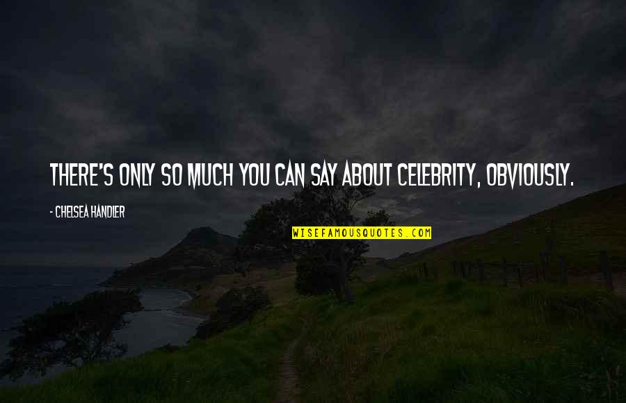Chelsea's Quotes By Chelsea Handler: There's only so much you can say about