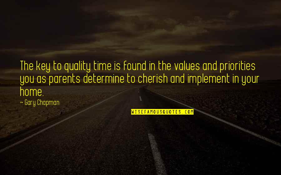 Cherish Time Quotes By Gary Chapman: The key to quality time is found in