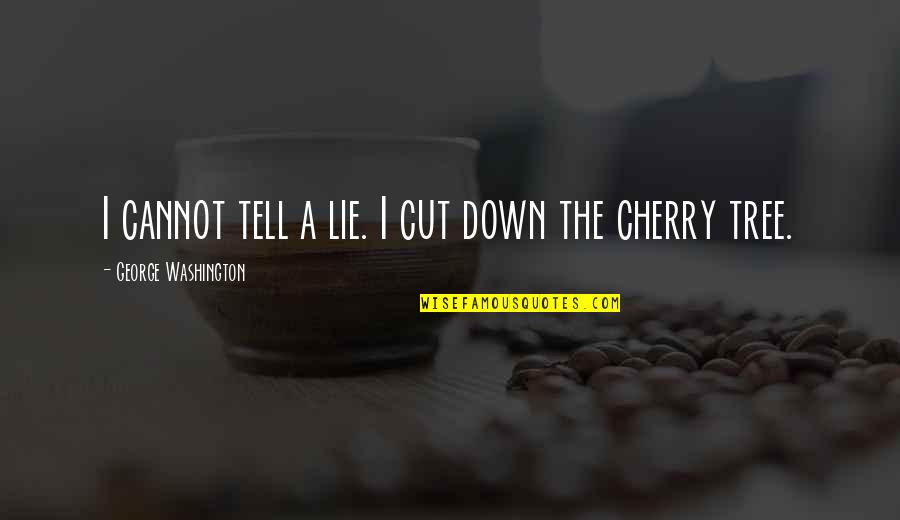 Cherry Tree Quotes By George Washington: I cannot tell a lie. I cut down
