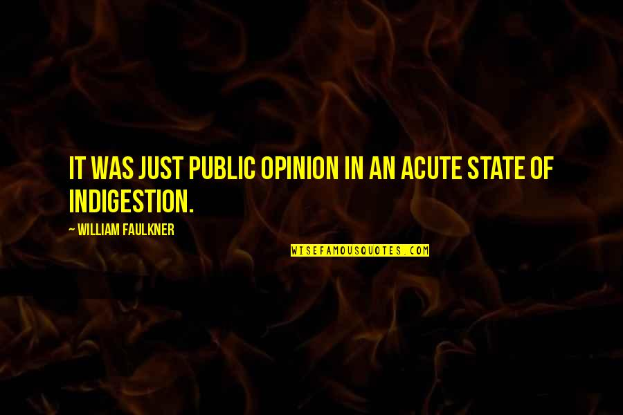 Cherry Tree Quotes By William Faulkner: It was just public opinion in an acute
