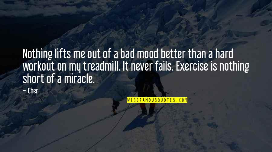 Cher's Quotes By Cher: Nothing lifts me out of a bad mood