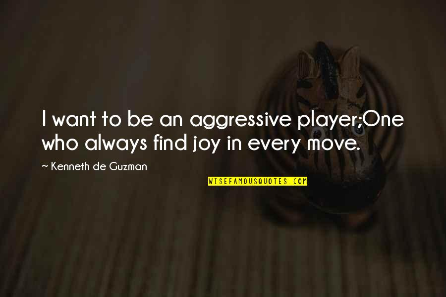 Chess Player Quotes By Kenneth De Guzman: I want to be an aggressive player;One who