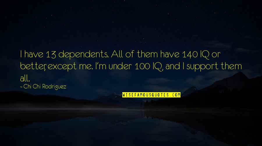 Chi Chi Quotes By Chi Chi Rodriguez: I have 13 dependents. All of them have