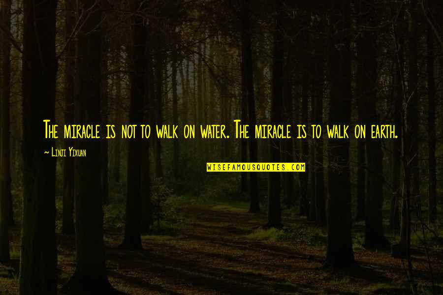 Chi Chi Quotes By Linji Yixuan: The miracle is not to walk on water.